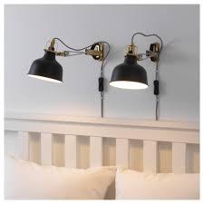 ikea clip on book light ranarp wall cl spotlight black ikea