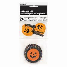 Halloween Cake Supplies Pumpkin Face Halloween Cupcake Decoration Kit Halloween Party