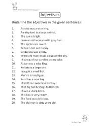 bunch ideas of adjectives in hindi worksheets for your download