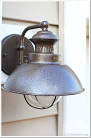 outdoor light outdoor light fixture makeover using metallic paint inmyownstyle