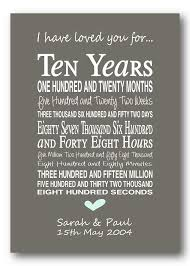 tenth anniversary gifts best 25 10th anniversary gifts ideas on 10 year