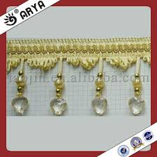 Beaded Fringe For Curtains Yellow Beaded Trim Glass Beaded Fringe Curtain Lace Lampshade
