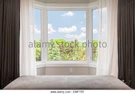 Bay Window Curtains Bay Window Curtains Stock Photos Bay Window Curtains Stock