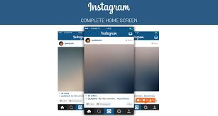 instagram layout vector illustrator free instagram home screen psd layout on behance