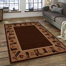 southwest area rugs paw print area rug rugs compare prices at nextag