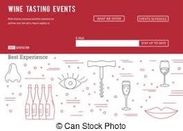 wine business vector template wine tasting flyer poster clip