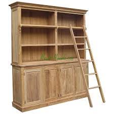 reclaimed teak bookcase library 4d teak furniture producer