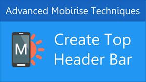 Pop A Top Bar Create A Top Header Bar In Mobirise Youtube