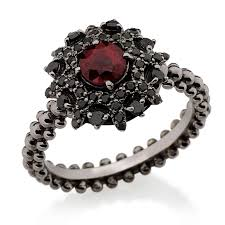 black ruby rings images Bachiana ruby and black diamond engagement ring carla amorim jpg
