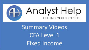 cfa level 1 fixed income detailed summary 2017 r51 youtube