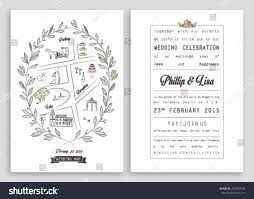 Wedding Invite Template Wedding Invitation Template Map Royal Invitation Stock Vector