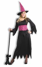 pink witch costume lacy pink wicked witch black u0026 pink sorceress halloween costume ebay