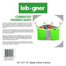 amazon com corner toy shower caddy by lebogner baby bath toy