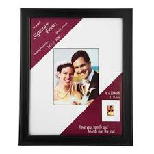 personalized wedding autograph frame 8 x 10 black signature frame hobby lobby 490227