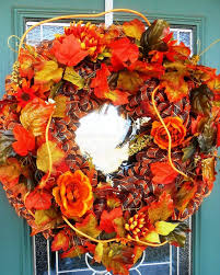 sale 20 harvest time fall door wreath handmade by