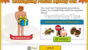 what can you win from the thanksgiving potluck mystery box