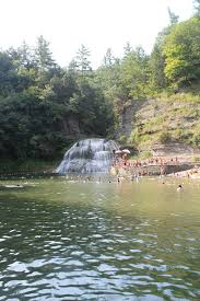 enfield falls a popular swimming hole in robert h treman state