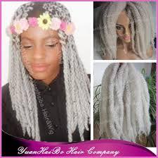 grey marley braiding hair stock 20 fold silver grey synthetic twists 100 kanekalon marley