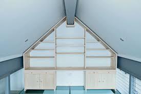 Floor Ceiling Shelf Contemporary Oak With Storage