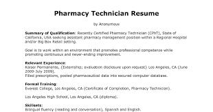 Pharmacist Sample Resume by Smartness Ideas Resume For Pharmacy Technician 2 Pharmacy
