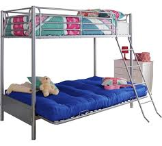 buy home metal bunk bed frame with futon blue at argos co uk