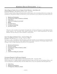 resume samples lead pharmacy technician pharmacist gallery for