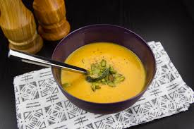 butternut squash soup with brown butter and trailside kitchen