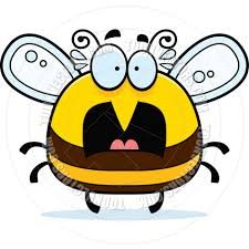cartoon little bee scared by cory thoman toon vectors eps 4328