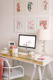 decor wall art and table lamp with imac desk ideas for office