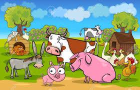 farm animals clipart group farmer pencil and in color farm