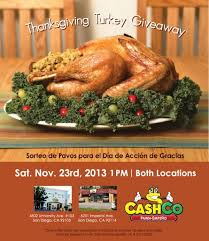 cashco pawn thanksgiving turkey giveaway free event in