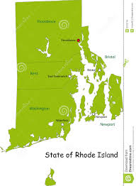 Rhode Island On Map Map Of Rhode Island State Royalty Free Stock Photos Image 9312718