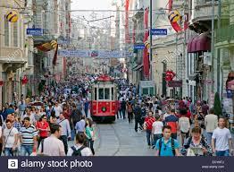turkey istanbul taksim square shopping arcade demirören istiklal