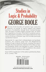 studies in logic and probability dover books on mathematics