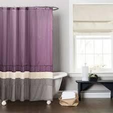 Dark Purple Shower Curtain Lush Decor Mia Purple Grey Shower Curtain By Lush Decor Elegant