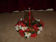 Christmas Hurricane Centerpiece - christmas wreath do it yourself just crafts by patricia