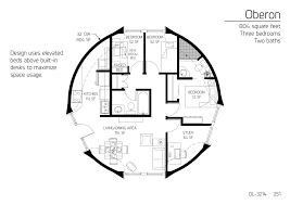 804 square feet three bedrooms two baths round house plans