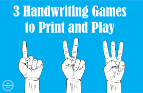 3 handwriting games to print and play your therapy source