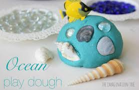 ocean play dough and loose parts the imagination tree