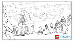 frozen northern lights u2013 the ice castle coloring page
