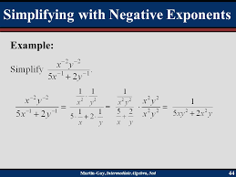 simplify the expression simplifying with negative exponents martin interate algebra 5ed 43 when you have a rational expression where