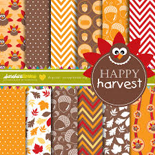 harvest thanksgiving thanksgiving fall harvest digital paper set