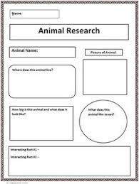 animal research template freebie writing pinterest