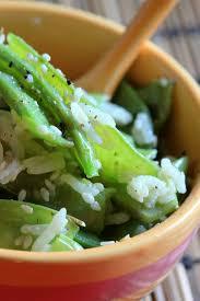 cuisiner des pois gourmands pois gourmands au riz parfumé sésame et soja chachou s kitchen