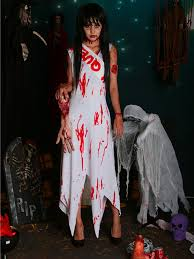 Ghost Bride Halloween Costume Halloween Party Ghost Bride Blood Costumes Cosplay Bride Chucky