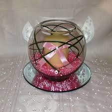 Floating Candle Centerpiece Ideas Candle In Glass Fishbowl For Wedding Centerpieces Table Also Pink