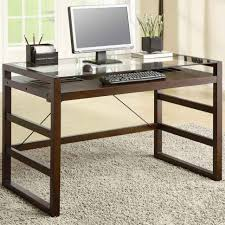 Wooden Office Tables Designs Interesting Glass Office Desk Charming Furniture Home Design