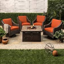 Threshold Belvedere Patio Furniture by Belvedere 5 Piece Wicker Motion Fire Pit Set Add To List For