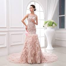 unique wedding dress chic blush unique wedding dress with sequins embroidered and