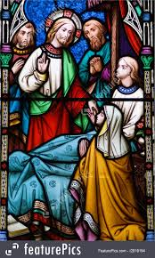 stained glass window religious symbols jesus healing stained glass window stock